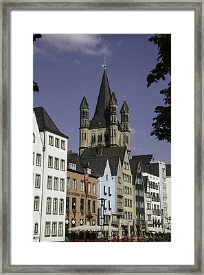 View Of Great St Martins Church In Cologne Framed Print by Teresa Mucha