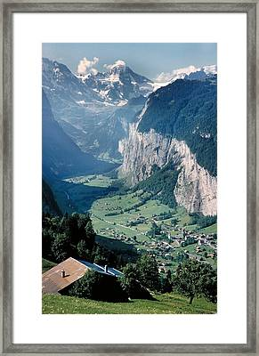 Amazing View Of Swiss Valley Framed Print by Carl Purcell