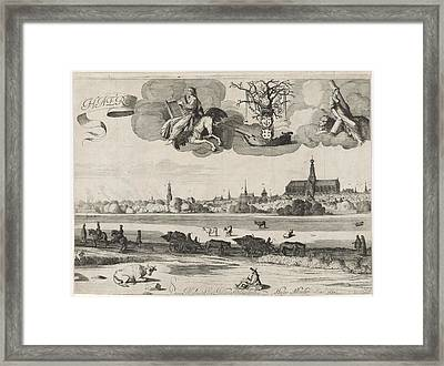 View Of Haarlem C, The Netherlands, Jan Van De Velde II Framed Print by Jan Van De Velde (ii) And Hugo Allard