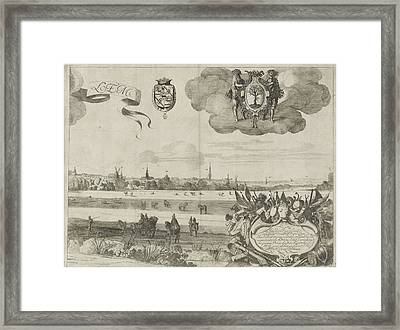 View Of Haarlem C, The Netherlands, Jan Van De Velde II Framed Print by Jan Van De Velde (ii) And Pieter De Molijn And Samuel Ampzing