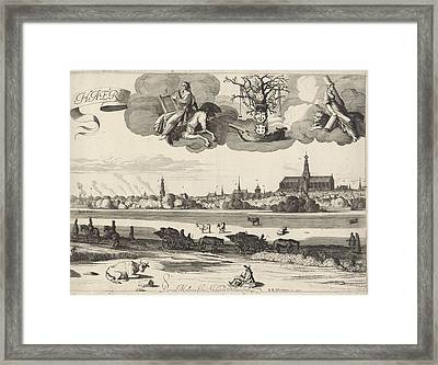 View Of Haarlem, Jan Van De Velde II, Reinier And Josua Framed Print by Jan Van De Velde (ii) And Reinier And Josua Ottens