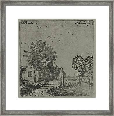 View Of Hekendorp, Eberhard Cornelis Rahms Framed Print by Eberhard Cornelis Rahms
