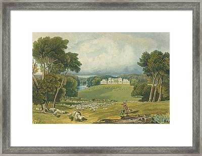 View Of Holkham Hall, Norfolk, Engraved Framed Print by Elizabeth Blackwell