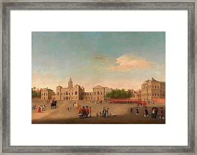 View Of Horse Guards And Whitehall, London  Unknown Artist Framed Print by Litz Collection