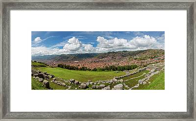 View Of Inca Archaeological Site Framed Print by Panoramic Images