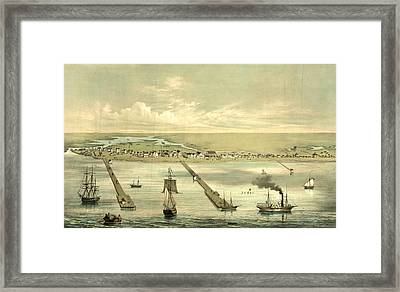 View Of Indianola Taken From The Bay, On The Royal Yard Framed Print