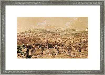View Of Industrial Sheffield Framed Print by English School
