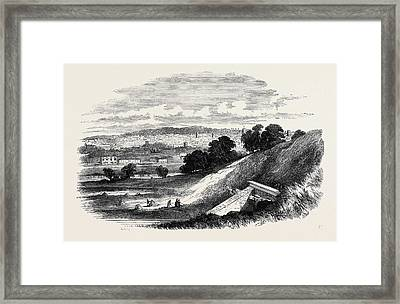 View Of Ipswich, From Store Hill Framed Print by English School