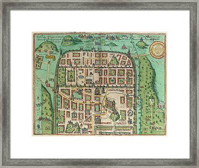 View Of Jerusalem Framed Print by British Library