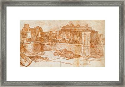 View Of Jerusalem With The Temple Of Solomon Framed Print