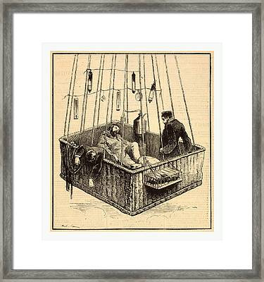 View Of Journalist Joseph Croc-spinelli Framed Print by French School