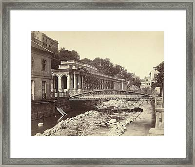 View Of Karlovy Vary And The Tepla Czech Republic Framed Print