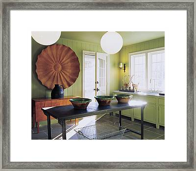 View Of Kitchen Interior Framed Print by Scott Frances