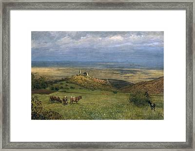View Of Kronberg In Taunus Framed Print by Hans Thoma
