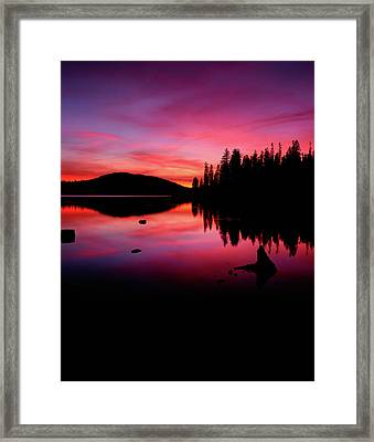 View Of Lake At Sunset, Fish Lake Framed Print