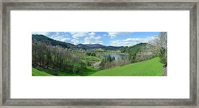 View Of Lake Surrounded By Mountains Framed Print by Panoramic Images
