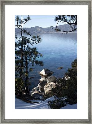 View Of Lake Tahoe Framed Print by Ivete Basso Photography