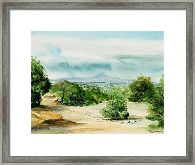 View Of Laplata Mountains Framed Print