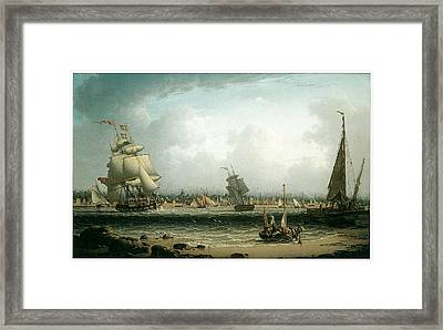 View Of Liverpool Framed Print by Robert Salmon