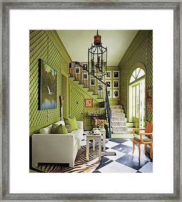 View Of Living Room Framed Print