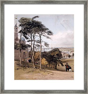 View Of London From Greenwich Park, 1842 Framed Print by Thomas Shotter Boys