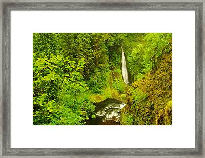 View Of Loowit Falls Framed Print