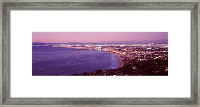 View Of Los Angeles Downtown Framed Print