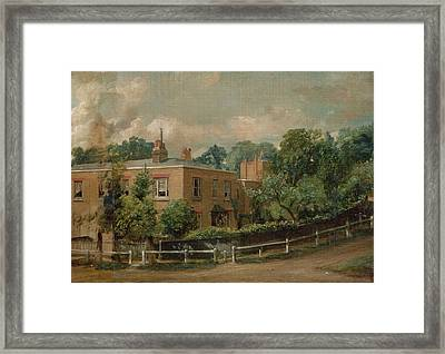 View Of Lower Terrace, Hampstead Framed Print by John Constable