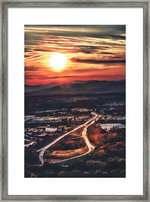 View Of Lynchburg Framed Print