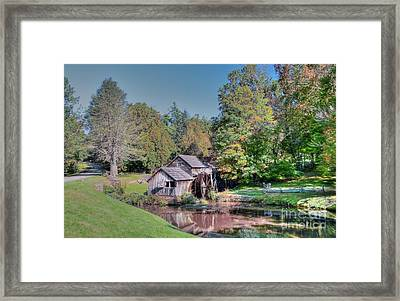 View Of Mabrys Mill Virginia Framed Print by Kathleen Struckle