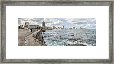 View Of Malecon From San Salvador De La Framed Print