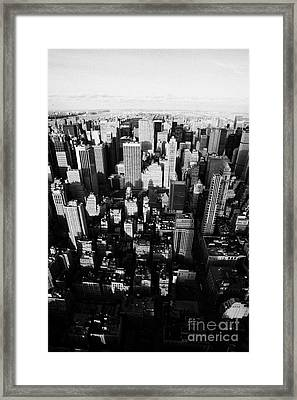 View Of Manhattan North Towards Central Park From Empire State Building Framed Print by Joe Fox