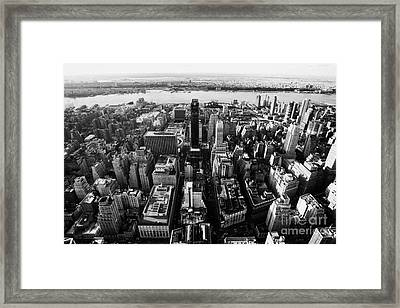 View Of Manhattan West Towards Hudson River And One Penn Plaza New York City Framed Print by Joe Fox