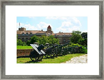View Of Military Museum In Fortress Kalemegdan In Belgrade Serb Framed Print by Aleksandar Mijatovic