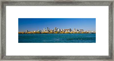 View Of Montreal Skyline And The Saint Framed Print by Panoramic Images