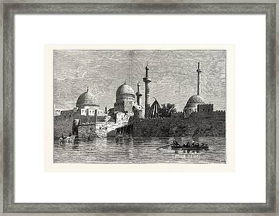 View Of Mosul From The Tigris. Baghdad Framed Print