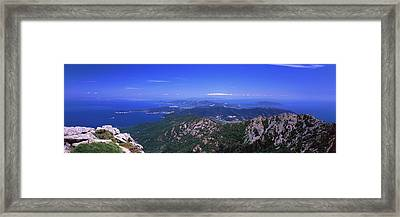 View Of Mount Capanne, Island Of Elba Framed Print by Panoramic Images