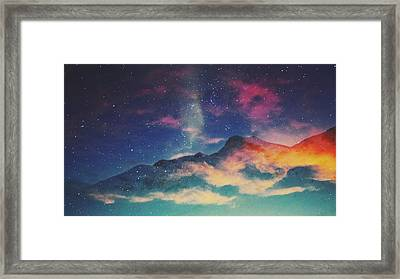 View Of Mountain Covered With Clouds Framed Print by Haydn Gawer / Eyeem