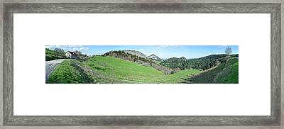 View Of Mountain Road, Mont Gerbier De Framed Print by Panoramic Images