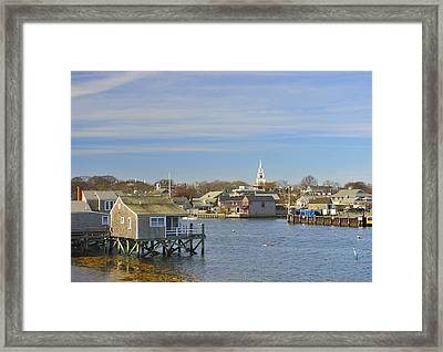 View Of Nantucket From The Harbor Framed Print by Marianne Campolongo