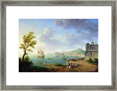 View Of Naples From The Castel Dellovo Framed Print
