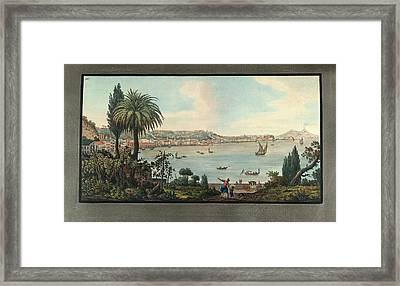 View Of Naples With Mt. Vesuvius Framed Print