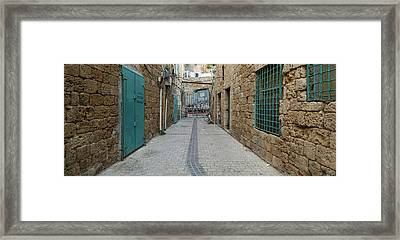 View Of Narrow Alley, Acre Akko, Israel Framed Print