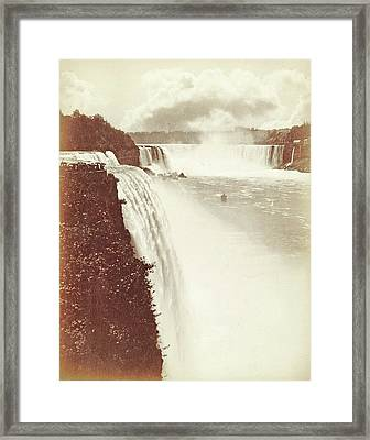 View Of Niagara Falls As Seen From Prospect Point Framed Print by Artokoloro