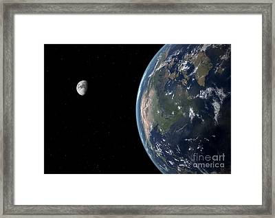 View Of North America With Rise In Sea Framed Print