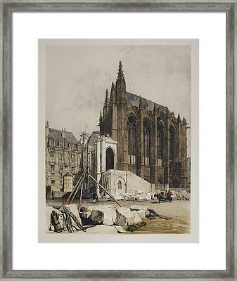 View Of Notre Dame Framed Print by British Library