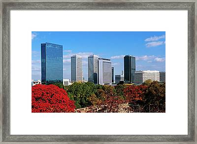 View Of Osaka Business Park In Autumn Framed Print by Panoramic Images