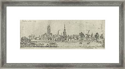 View Of Oudewater, The Netherlands, Eberhard Cornelis Rahms Framed Print by Eberhard Cornelis Rahms