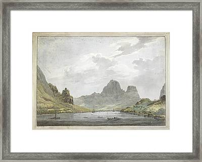 View Of Papetoai Bay Framed Print by British Library