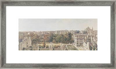 View Of Paris Framed Print by Louis-Nicolas de Lespinasse